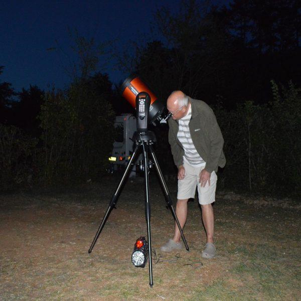 Stars at Night + Telescope